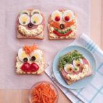 Dekoracyjne kanapki dla dzieci