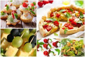 Pomysłowe jedzenie dla gości
